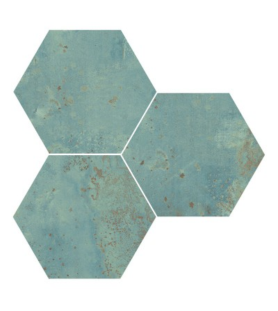 Zinc hexagon liso green.